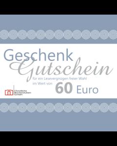 Geschenkgutschein über 60 € (Karte)