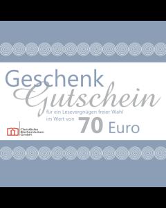 Geschenkgutschein über 70 € (Karte)